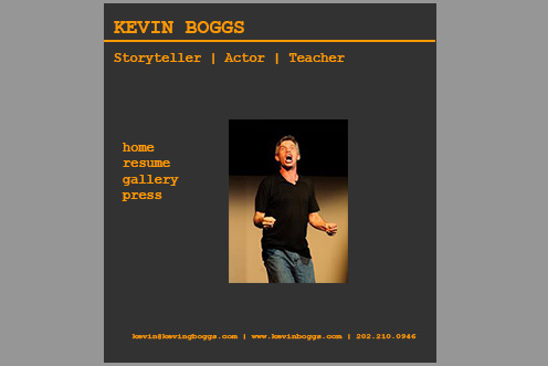 Gold Tequila Actor Website Template